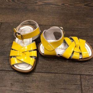 Salt Water Sandals - Yellow. Size 5